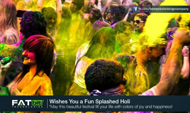 Celebrate The Festival of Colors – Happy Holi from FATbit Team