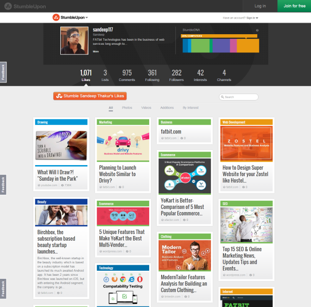 Stumbleupon puts out new website beta design akin to its mobile apps