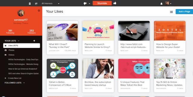 Stumbleupon Website's New Beta Design Makes it More User Engaging