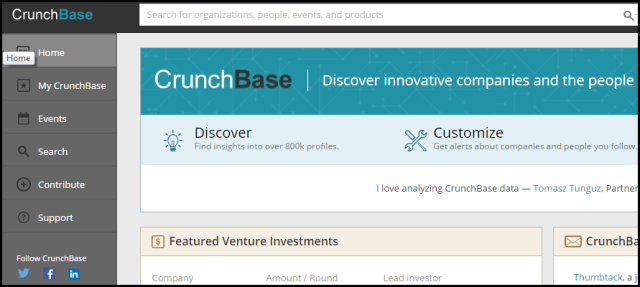 New CrunchBase- Less demanding with Powerful Search & Contribution Features